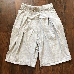 JOAN VASS gray cotton shorts